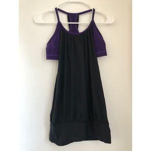 Lululemon Purple & Black No Limits Tank